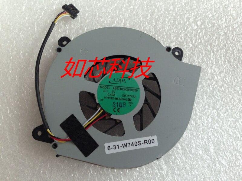 AB07405HX080B00 para Clevo W740SU X411 6-31-W740S-R00 portátil refrigerador ventilador