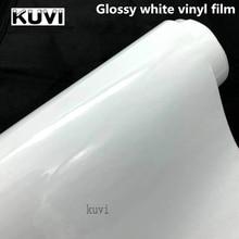 Яркая Глянцевая белая виниловая Автомобильная оберточная наклейка, белая глянцевая пленка, розничная торговля для капота, крыши, мотоцикла...