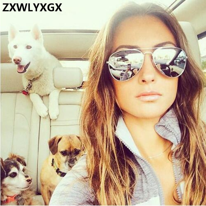 ZXWLYXGX Brand Designer Women's Sunglasses Pilot Driving Male Cheap Sun Glasses Eyeglasses gafas ocu
