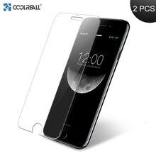 Coolreall 2PCS 2.5D Gehärtetem Glas Film Für iPhone 6 6s 7 8 Plus X Ultra-dünne 0,25 MM Gehärtetem Glas Schutz Screen Protector