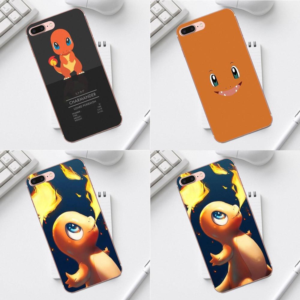 Novo Personalizado Acessórios Do Telefone Para o iphone X XS Max XR 4 4S 5 5C SE 6 6 s 7 8 além disso Galaxy A3 A5 J1 J3 J5 J7 2017 Charmander