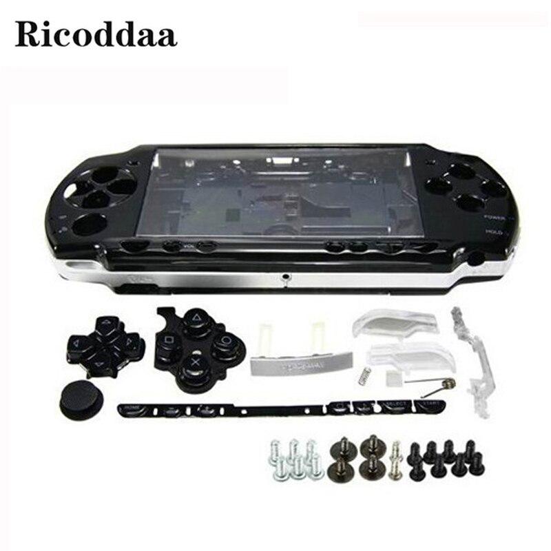 Para Sony PSP 2000 carcasa completa Funda/carcasa de repuesto + botones Kit cubierta caso para PSP 2000 accesorios de juego