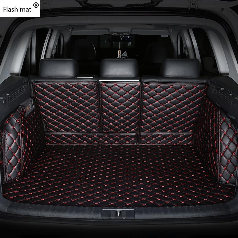 Flash mat leather Car Trunk Mats for BMW e30 e34 e36 e39 e46 e60 e90 f10 f30 x1 x3 x4 x5 x6 1/2/3/4/5/6/7 car cargo liner