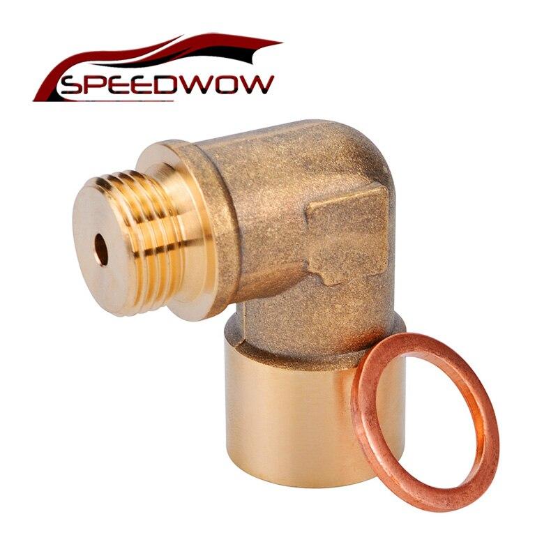 SPEEDWOW M18 x1.5 Oxygen Sensor Lambda Extender Spacer Exhaust 90degree O2