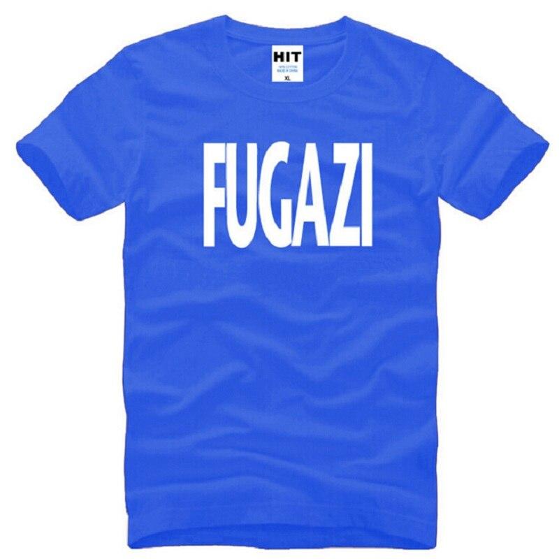 Nuevo diseño Fugazi T camisas de algodón de los hombres de manga corta HEAVY METAL PUNK POP de los hombres camiseta de verano estilo de hombre de música Rock banda Top Tees