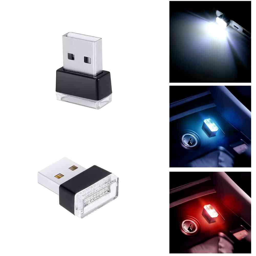 Lámpara Led Interior de pie para coche, luz Led Universal modificada gratis, teléfono de computadora, accesorios Usb para ambiente de coche para Lada bmw