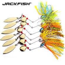 JACKFISH Spinnerbait 18g buzzbait esprit Spinner appâts de pêche leurres pêche appât dur lames crochets cuillères métalliques