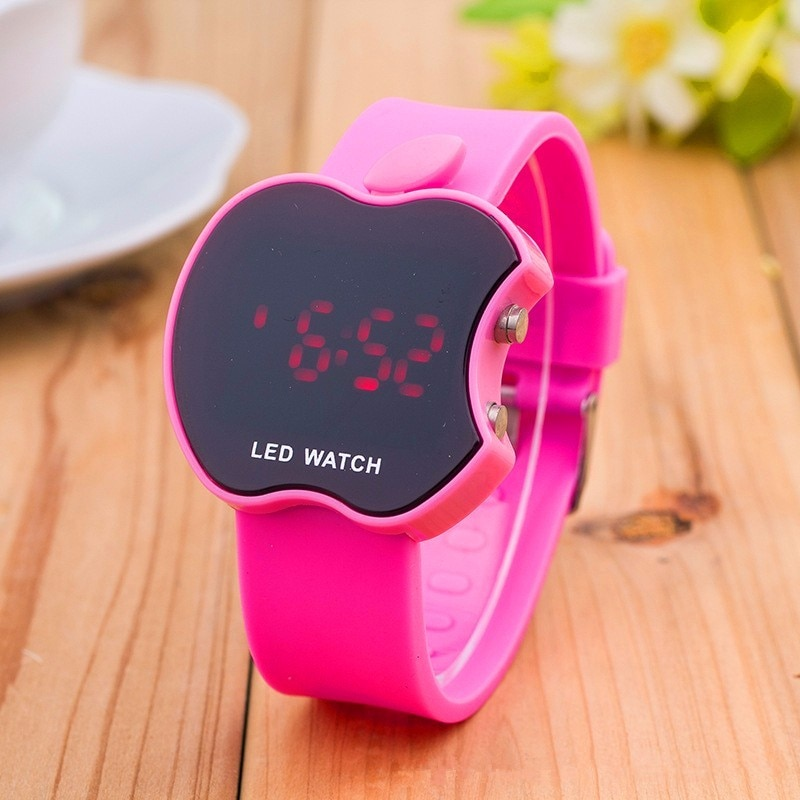 2021 New fashion cartoon LED watch digital women casual wrist watch sports jelly color touch electro