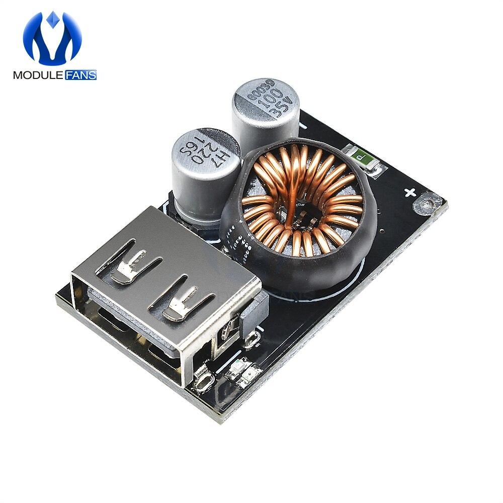 QC2.0 QC3.0 быстрое зарядное устройство USB модуль плата Высокая эффективность DC-DC понижающий преобразователь 10в-32в до 3.8в-12в мобильный телефон