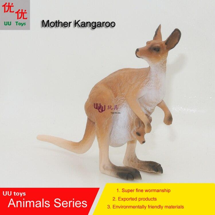 Hot toys:New Mother Kangaroo Simulation model Animals kids toys children educational props