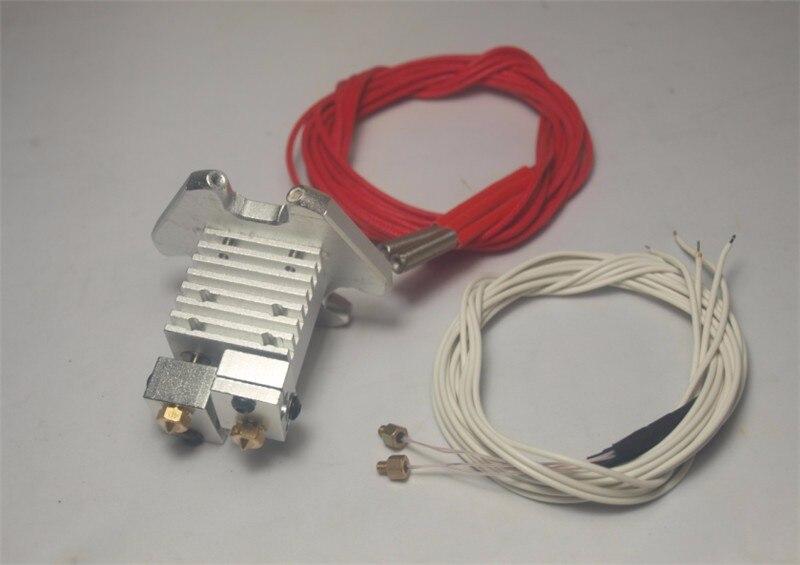 Delta Kossel stampante 3D ricambi metallo quimera multi colore estrusione salida hotend kit 1,75mm NTC 3950 termistori calentador de cartucho
