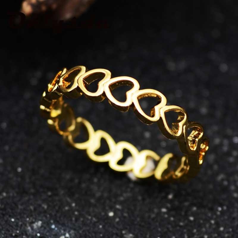 Onlysda oro color ahuecado diseño en forma de corazón bonita joyería de amor de moda para mujeres jóvenes niños regalos de boda OSR133