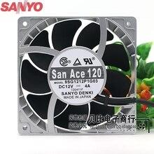 Pour Sanyo 9SG1212P1G06 9SG1212P1G03 12 cm haute température ventilateur vitesse ventilateur violence 12038 12 V 4A puissant 120*120*38mm