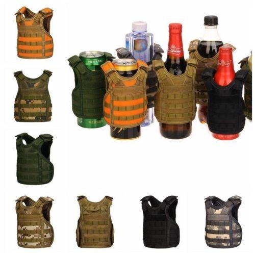 Chaleco de cerveza táctica funda para botella de cerveza militar Mini chaleco Molle en miniatura Personal