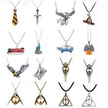 Hot Harry collier série cadeaux magiques pour enfants or Snitch Time-Turner poudlard Horcrux pendentif chaîne Giratiempo Bijoux