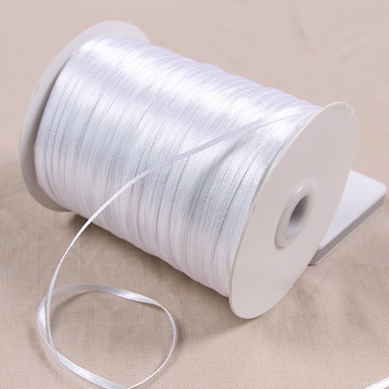 REDJCK 25/50/100 yardas  lote 3 mm de ancho de cinta de Material para manualidades correas de poliéster cintas para caja de regalo decoración para fiesta de boda