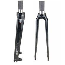 ROTUNDO углеродная вилка 700C 1-1/8 3k дисковый тормоз углеродная вилка для шоссейного велосипеда запчасти для велосипеда 28,6 мм Аксессуары для велосипеда