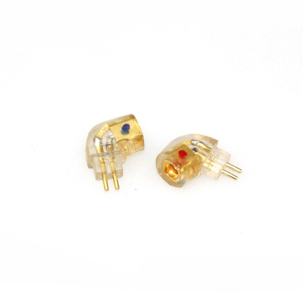 Linsoul adaptador conector do fone de ouvido mmcx 0.78mm 2pin para qdc sony ie80 w4r jh im fitear tf10 a2dc