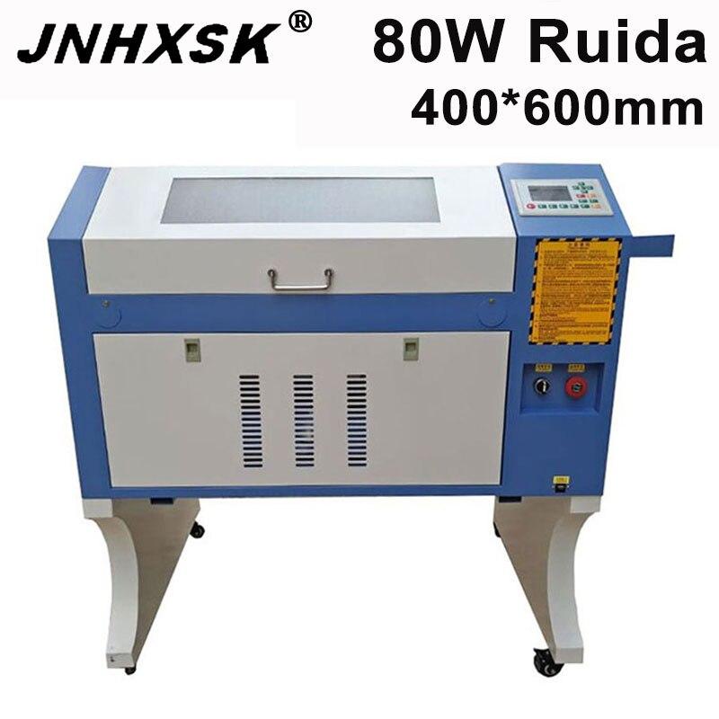 JNHXSK CNC máquina de corte láser RUIDA 4060 máquina de grabado láser 80W CO2 cortadora láser para madera acrílico máquina de grabado en vidrio
