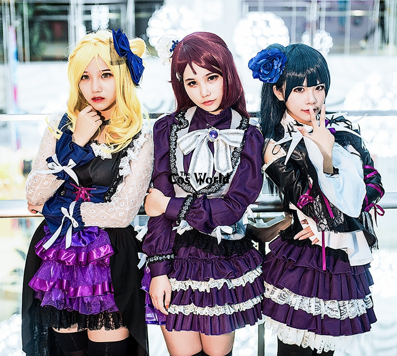Primeiro Amor Ao Vivo Aqours Culpado Culpado Da Noite da Luz Do Sol Morango Beijo Trapper Riko Mari Yoshiko Vestido Cosplay Uniforme Costumes