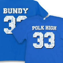 Polk haut 33 t-shirt hommes deux côtés Football Vintage Al Bundy Fun Kult no ma am décontracté cadeau t-shirt USA taille S-3XL