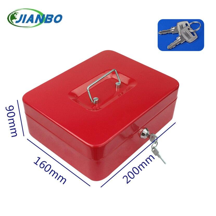 Портативный стальной шкафчик для денег и монет, сейф для дома, сейф для денег и ювелирных изделий