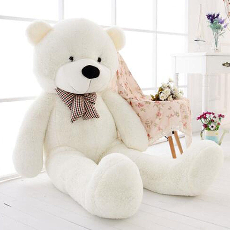 47inch Giant Big Huge White Teddy Bear Plush Stuffed Soft Toys dolls Xmas Gift