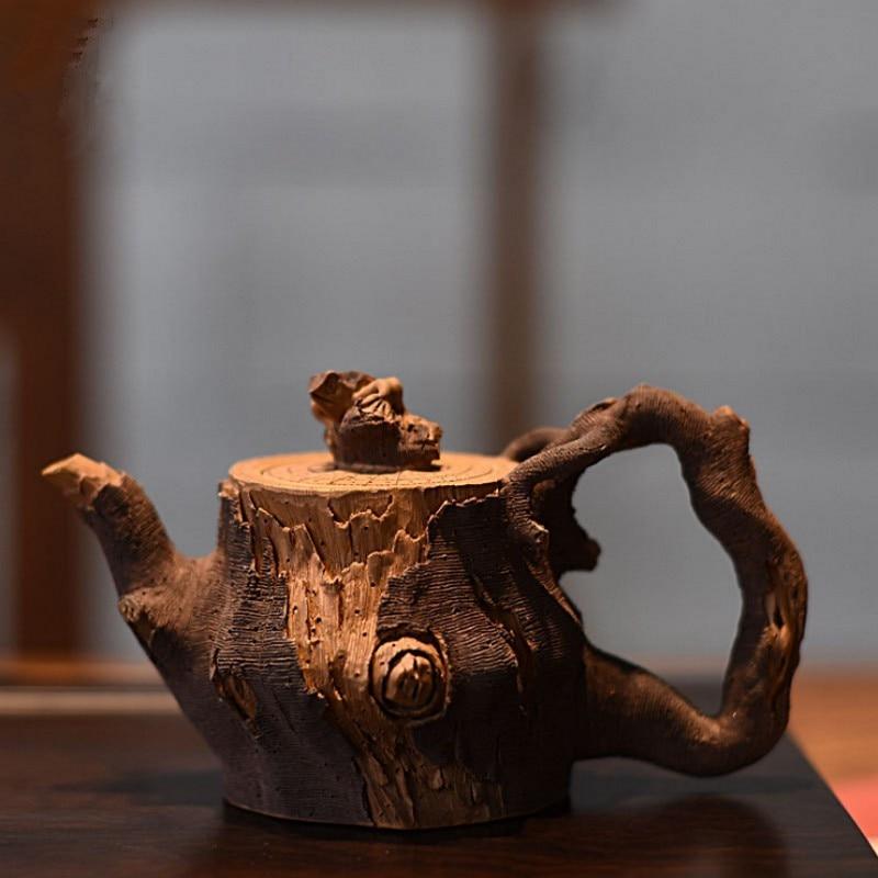 وعاء من الطين الأرجواني العتيق 180 مللي ، أصلي ، طقم شاي يدوي صيني مخصص ، فخار سحلية ، قسم من الخيزران ، إبريق زيشا ، هدية