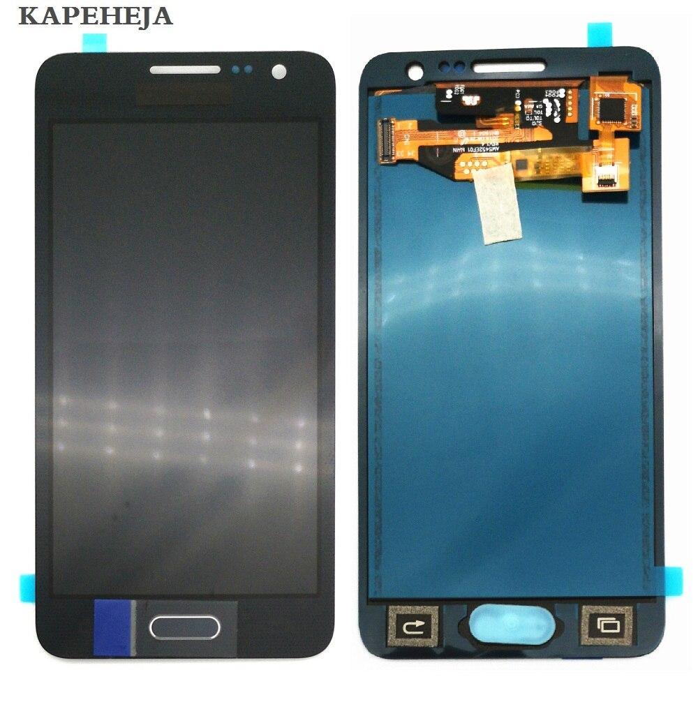 Puede ajustar el brillo LCD para Samsung Galaxy A3 2015 A300 A3000 A300F A300M pantalla LCD MONTAJE DE digitalizador con pantalla táctil
