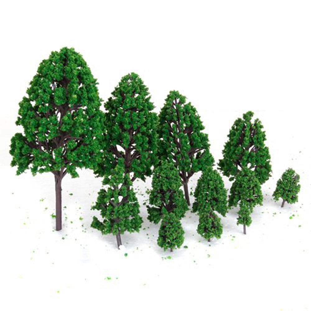 Mesa de arena de 8 tipos/24 Uds., árbol modelo de construcción, Serie de álamo de plástico, altura 6,7, 5,9, 5CM, microadornos para paisajismo, Set Miniatur
