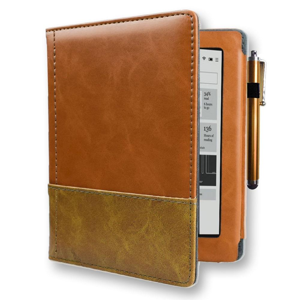High quality book cover for capa kobo aura N514 model eReader ebook case with flip book for Rakuten Aura 6 inch 2013