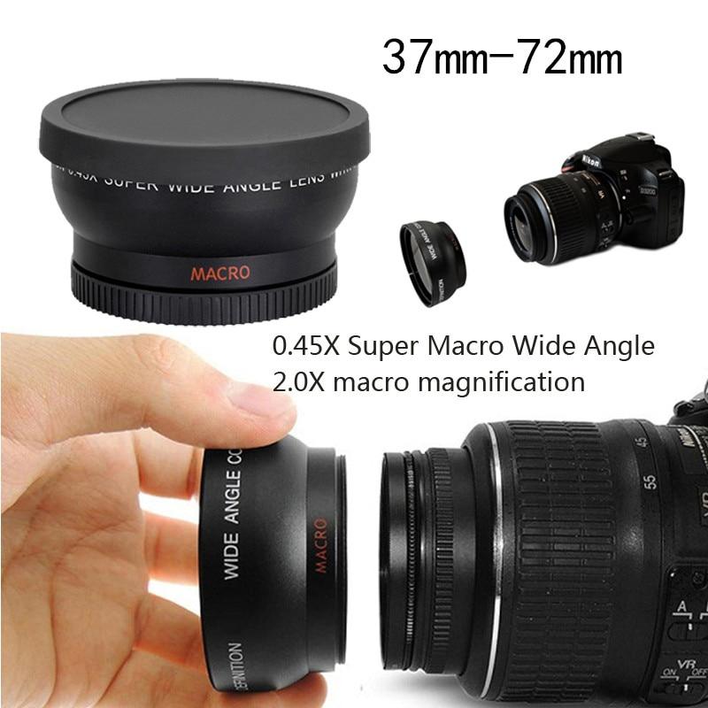 37MM43 46 49 52 55 58 67 72mm 0.45X Super Macro de ángulo ancho Macro ojo de pez fotografía lente para Canon NIKON Sony PENTAX DSLR DV