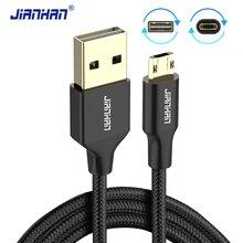 JianHan عكسها مايكرو USB كابل صغير USB الهاتف المحمول 5V2A شاحن سريع بيانات الحبل شحن كابل لسامسونج شاومي 4X هواوي
