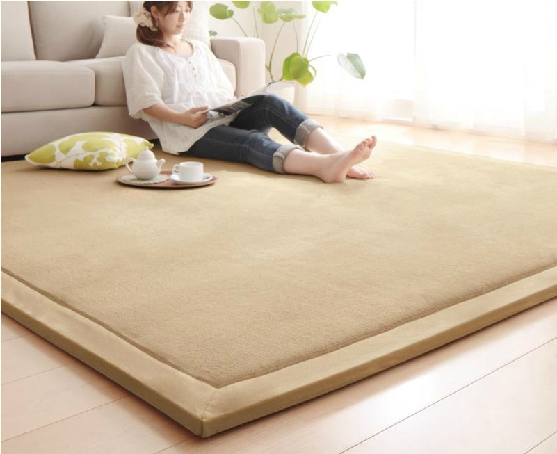 2 см толстый японский ковер с татами коралловый флисовый бархатный ковер для спальни детский игровой коврик для гостиной большой размер дет...