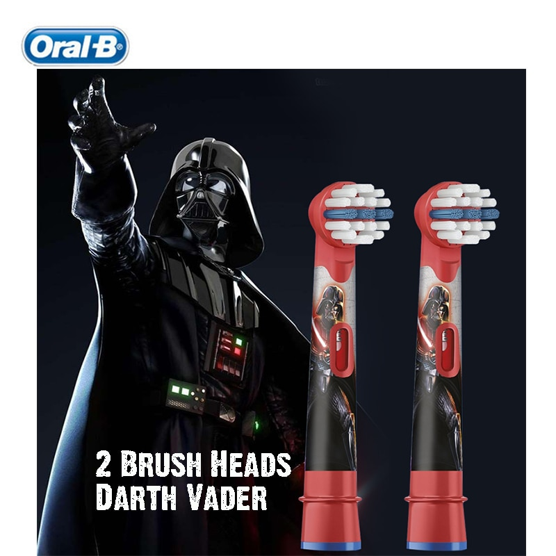 Oral B EB10 Children Electric Toothbrush Head Replacement Star Wars Series Brush Head Soft Bristle Deep Clean (Brush Heads Only) enlarge