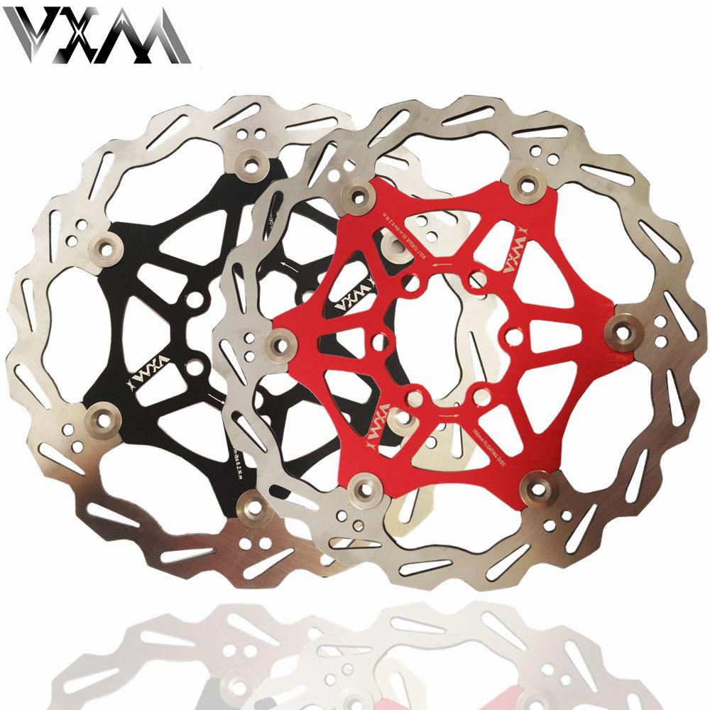 "VXM-freno de disco de bicicleta DH, rotores de disco flotante r de 160mm, 6 "", rojo/negro, para frenos de disco hidráulicos de bicicleta de montaña"