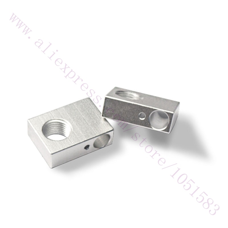 2 unids/lote 3D piezas de la impresora Reprap hilo 1mm Budaschnozzle V1.1 caliente bloque de aluminio caliente final/salida Hotend