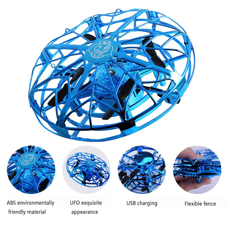 Flying RC Helicopter Magic Hand UFO Induction Aircraft Electronic Toy Mini Induction Drone Electric