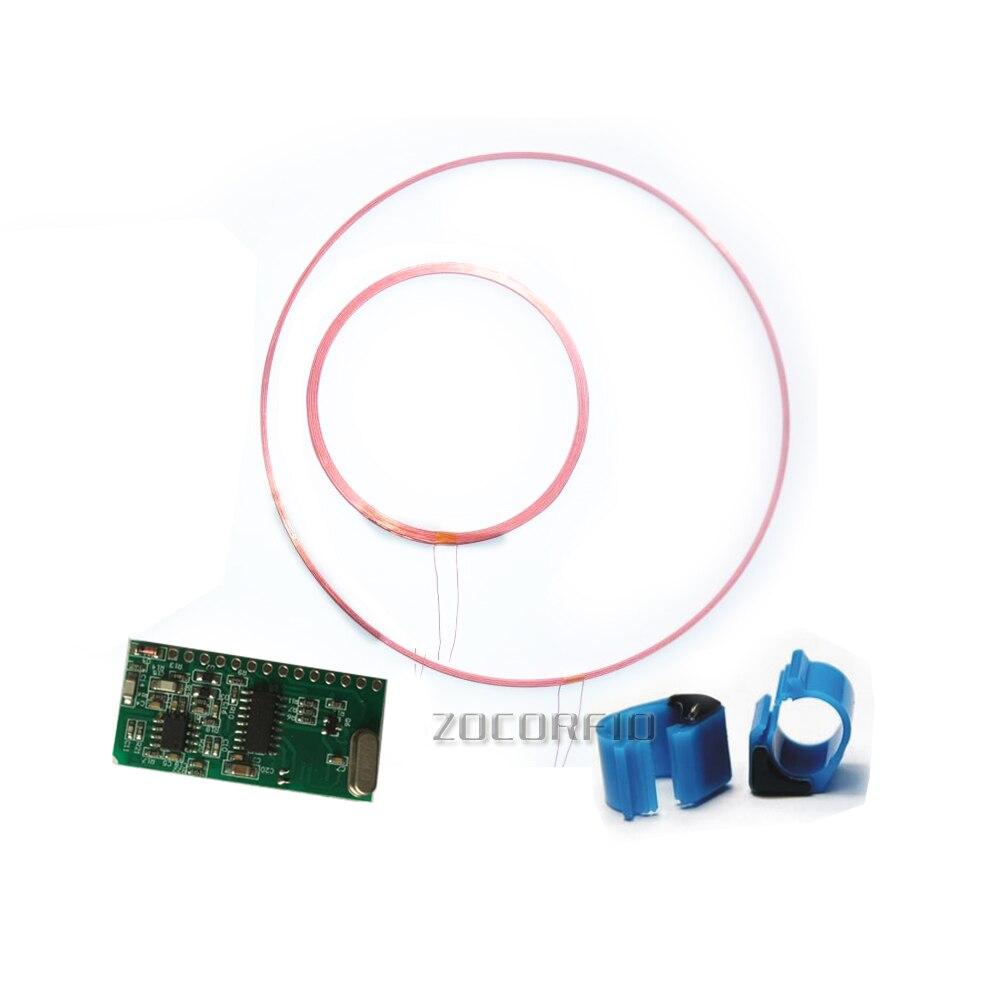 Módulo Lector de etiquetas de animales RFID de larga distancia de 125-134,2 KHZ interfaz TTL ISO11784/85 FDX/HDX