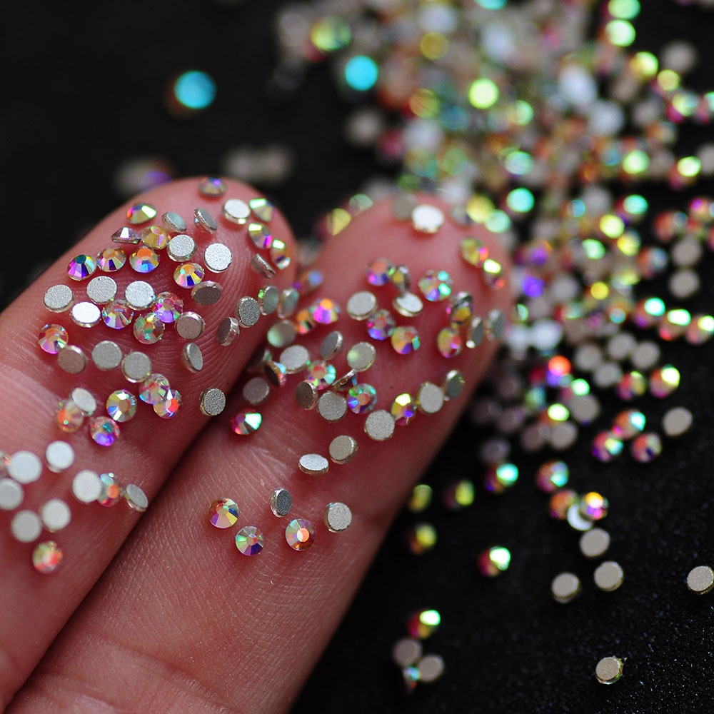 Crystal AB Strass Caviar Nail Art Decoration Mini Glitter Pearl Rhinestones Manicure