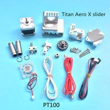 3D printer Parts  All Metal  Prusa i3 titan extruder 0.4MM nozzle full set  MK2 printer full kit PT100 Version