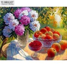 "Full Square/Round Drill 5D DIY Diamond Painting""Fruit flowers""3D Embroidery Cross Stitch Mosaic Rhinestone Decor Gift JCC"