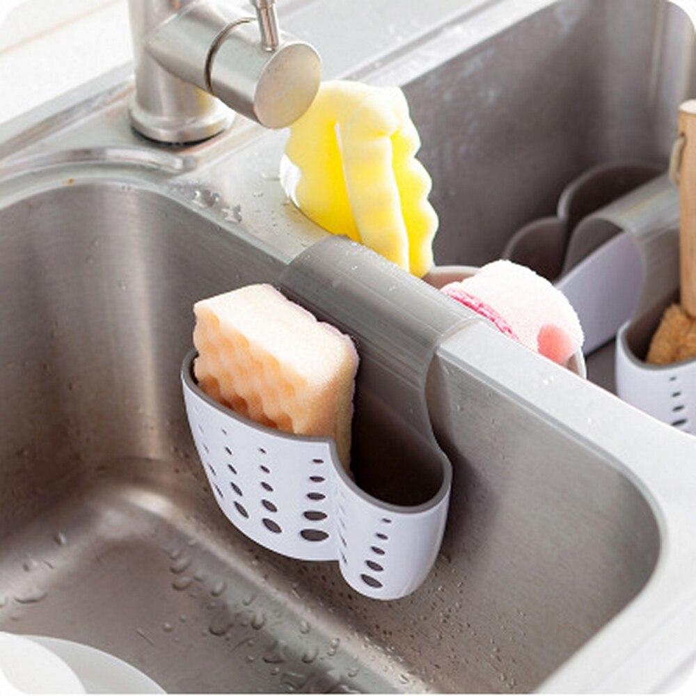 Suspensión de fregadero de drenaje fregadero esponja drenaje del soporte Rack palillo estante de almacenamiento sostenedor del fregadero de escurridor hogar accesorio Cocina