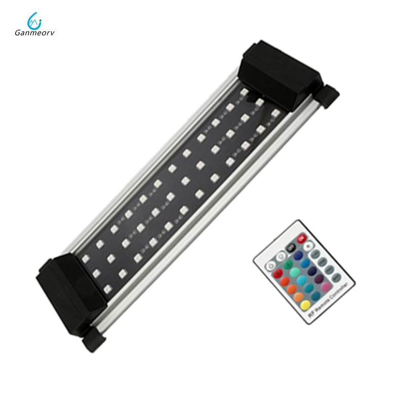 Controlador remoto 6W acuario iluminación LED planta acuática pecera lámpara de luz se adapta a tanque de acuario 20-40cm