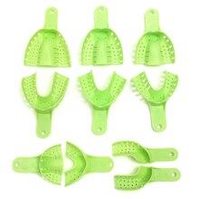 10 pièces en plastique matériaux métalliques Impression dentaire plateaux Central approvisionnement porte-dents Durable pour les outils de dents