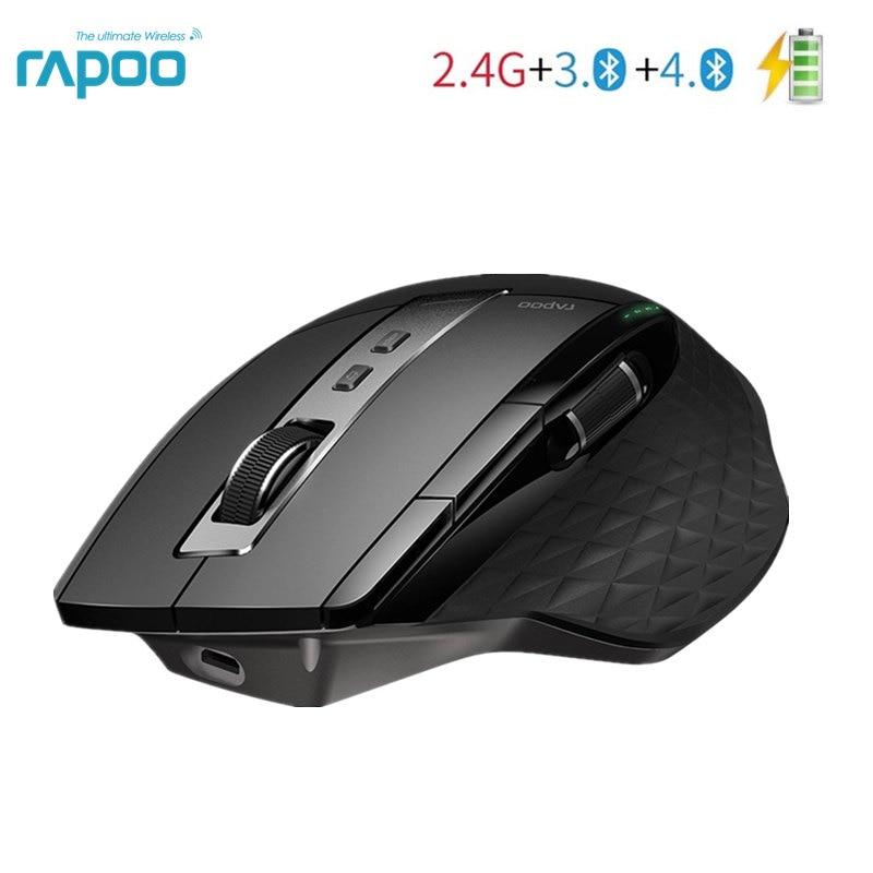 Беспроводная мышь Rapoo 2,4G, перезаряжаемая многорежимная Bluetooth мышь для бизнеса и офиса