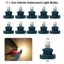 Vodool 10Pcs T3 Led 12V Auto Auto Interieur Instrument Lamp Gloeilampen Dashboard Lampen Auot Auto Accessoire Auto lichten Signaal Lamp