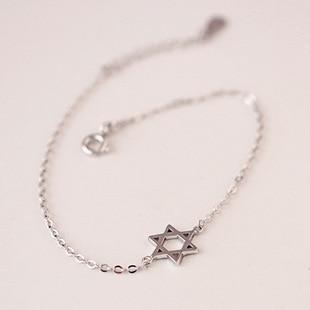 Moda 925 prata tornozeleiras david de estrela para mulheres venda quente prata esterlina jóias meninas presente joyas de plata 925