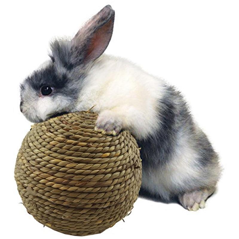 6cm/10cm Hamster Rabbit Toys Hamster Ball Guinea Pig Toys Grass Ball For Rodents Pet Guinea Pig for Dental Cleaning PRO