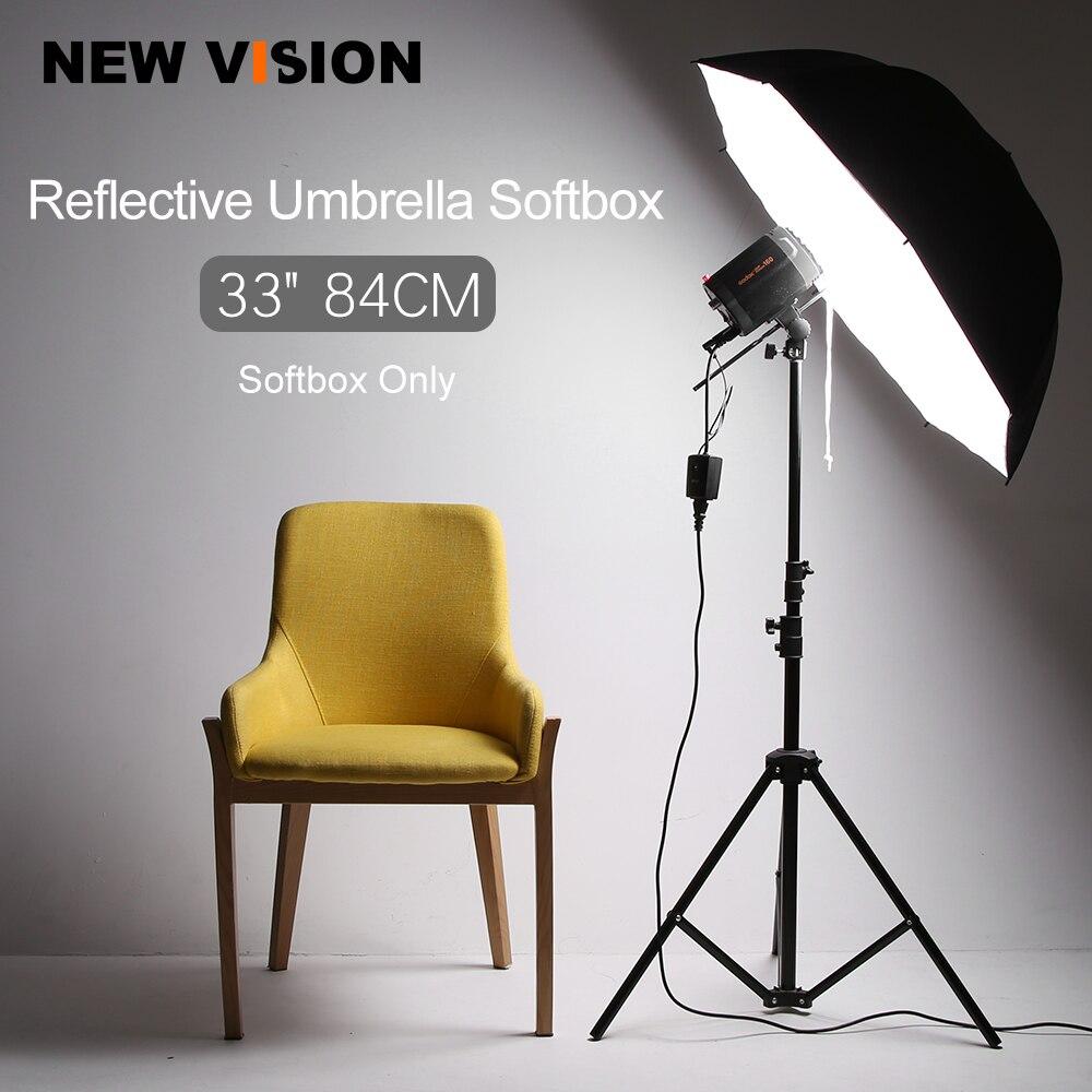 "33 ""/84 cm flash de estudio fotográfico iluminación estroboscópica paraguas reflectante Softbox"